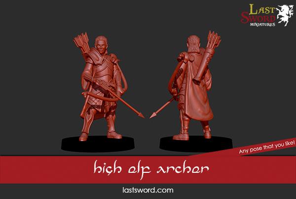 And Now Undeads! (kickstarter) Ulthuan-Archer-Elf-Elven-Lords-Kickstarter-Warhammer-01