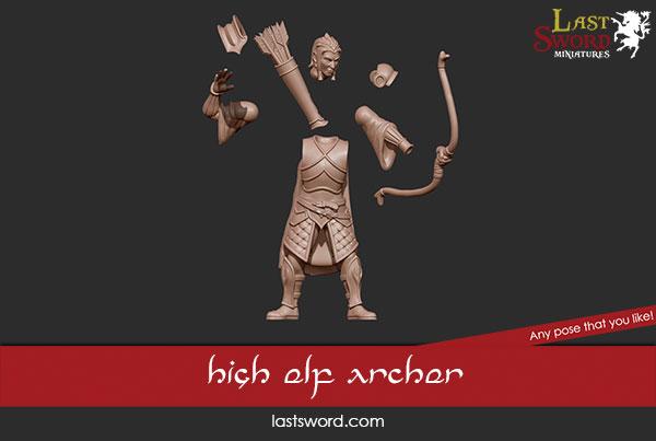 And Now Undeads! (kickstarter) Ulthuan-Archer-Elf-Elven-Lords-Kickstarter-Warhammer-05