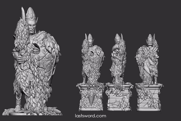 And Now Undeads! (kickstarter) - Page 3 Elven-Lords-Elf-Statue-Stone-01