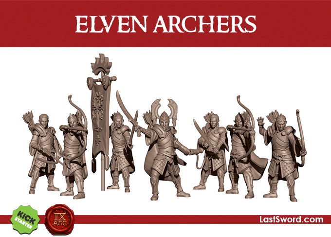 Kickstarter-Elven-Miniatures-Infantry-Ar