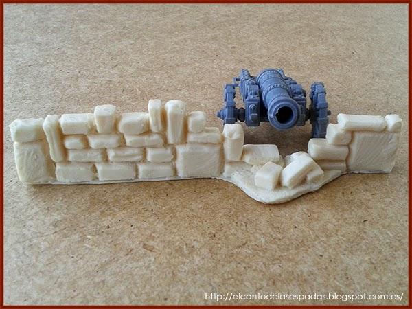 Piedra-Muro-Caído-Valla-Fence-Wall-Stone-Wargames-Warhammer-Escenografia-Scenery-Wargames-07-SuperSculpey-Clay